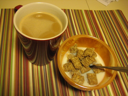 coffee and Kashi autumn wheat