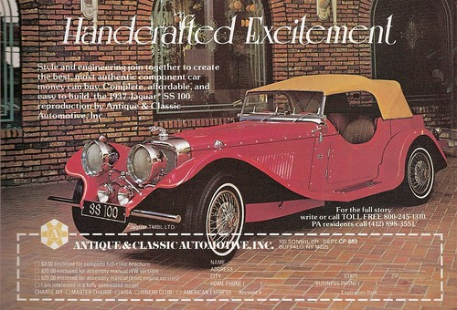 Antiques And Collectable Auto Jaguar Ss100 Kit Old Car Junkie