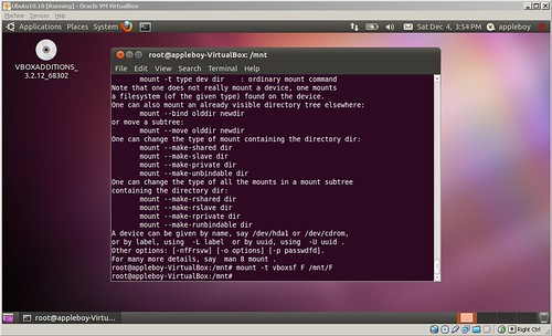 VirtualBox + Ubuntu 10.10