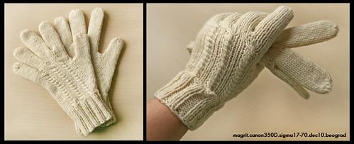 white gloves finished