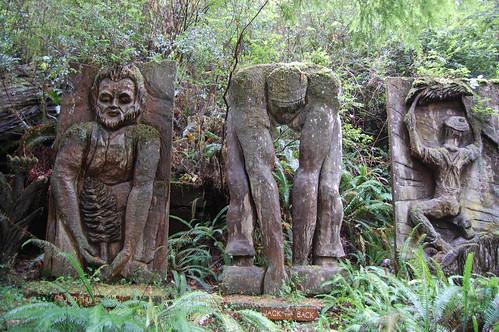 Chainsaw sculptures.