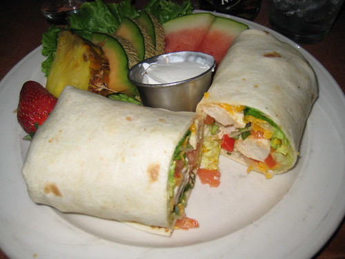 tequila chicken wrap with fruit
