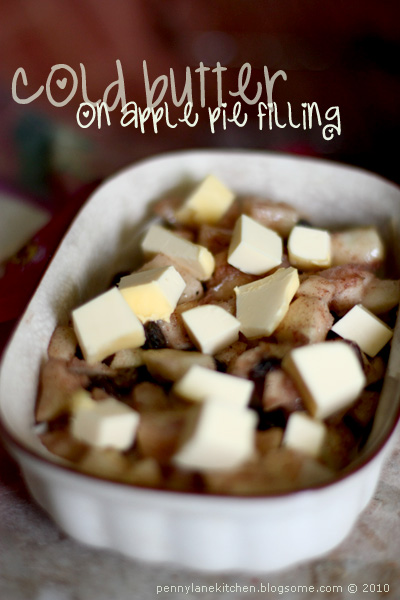 Cold Butter on Apple Pie Filling