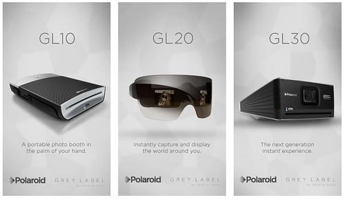 polaroid, grey label