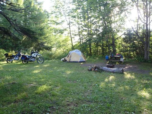 Camping at Caribou Munroes, Nova Scotia