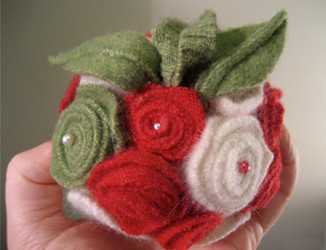 Finished Felt Pomander