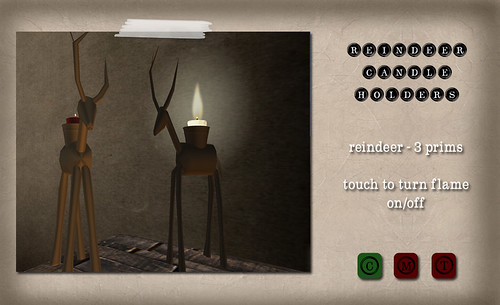 Barcode - Reindeer Candle Holders