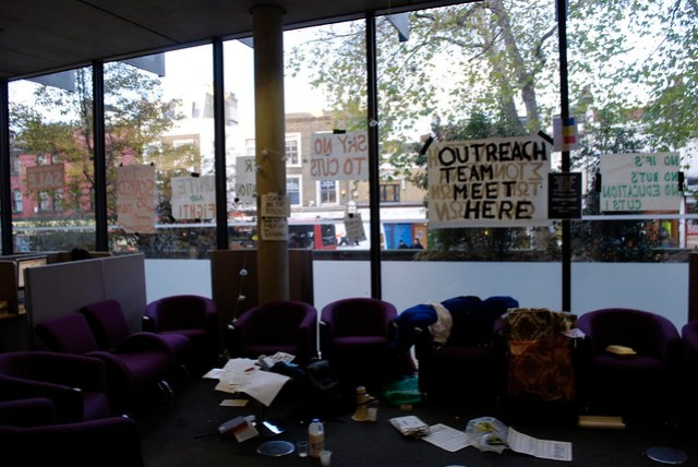 Goldsmiths library occupation