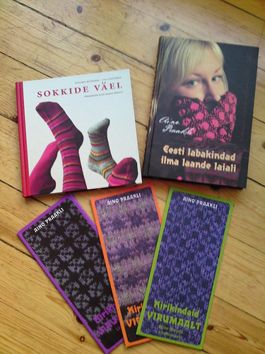 knitting books and leaflets