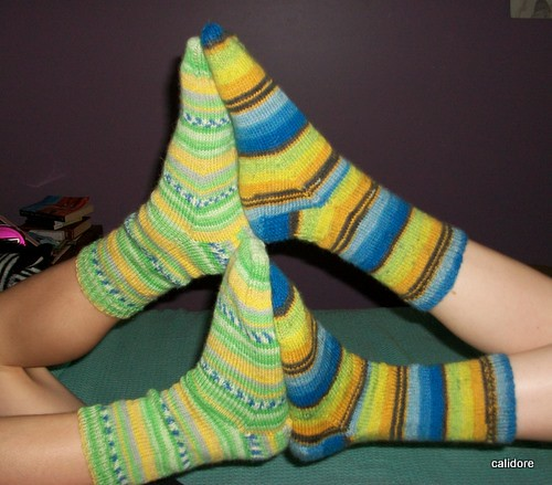 Socks on Giggly Children's legs