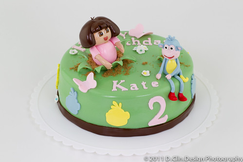 Dora & Boots Cake