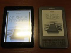 Pandigital 7 inch color, Kindle 3