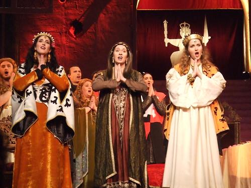 King Arthur de Purcell à l'Opéra de Montpellier sous la direction d'Hervé Niquet avec Chantal Santon et Ana Maria Labin. Mise en scène : Gilles et Corinne Benizio (Shirley et Dino).