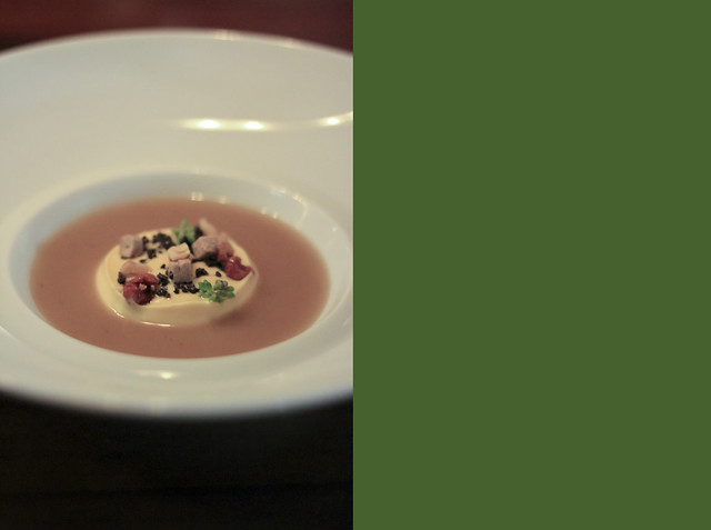royale of parmesan, truffle, potato and toasted rice velouté