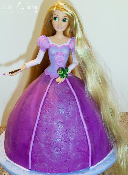 Princess Rapunzel Cake Tutorial  Ashlee Marie  Real Fun