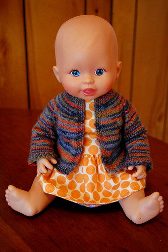 Baby's new sweater.