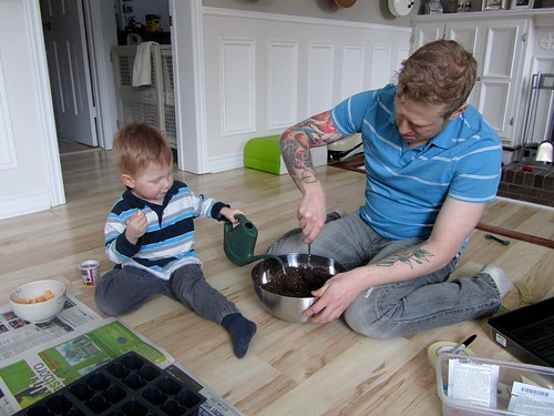 Moistening the soil