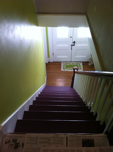 Stairs, in eggplant :-)