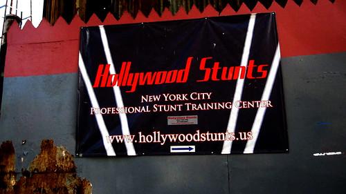 Hollywood Stunts Sign