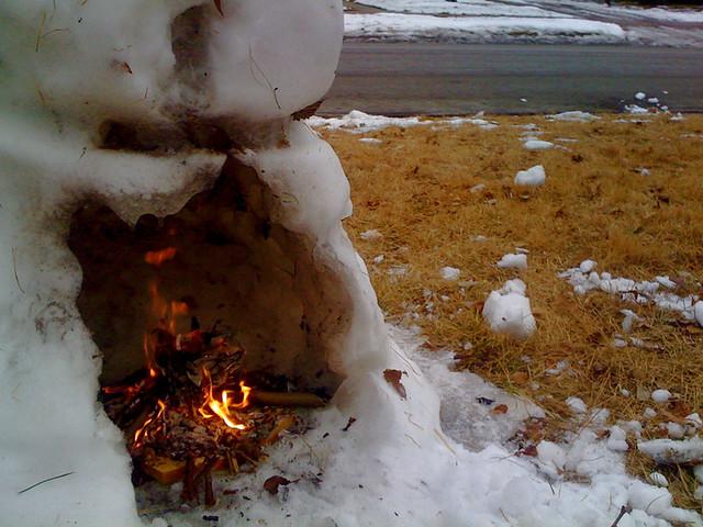 snow fire 2011