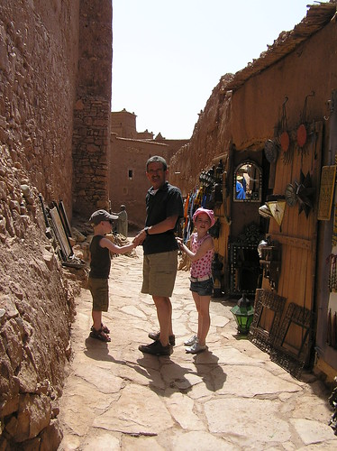 The narrow streets of Ait Ben Haddou