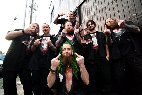 Groomsmen! (on a dumpster)