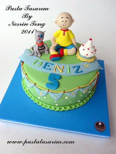 CAILLOU AND GILBERT CAKE - DENIZ BIRTHDAY