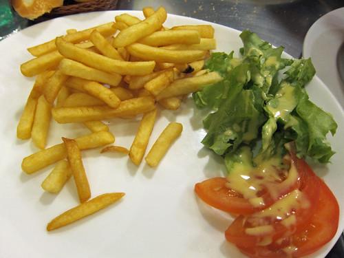 Frites et Salade