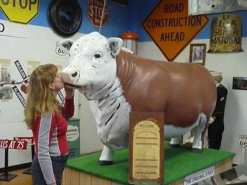 TX - Devil's Rope Museum 20 - Kissing Cow