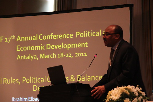 Ibrahim Elbadawi speaking in the Second Plenary Session at the ERF 17th Annual Conferene