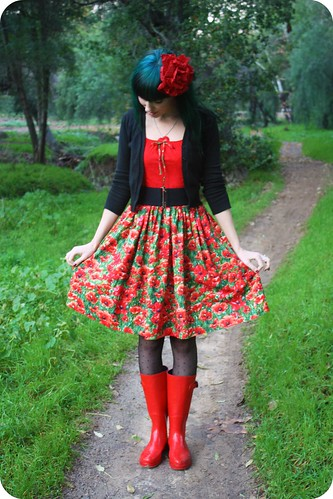 OOTD: Poppies & Puddles by LoveFrankie