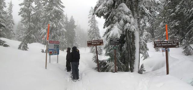 Greater Vancouver Snowshoe - Black Mountain Plateau Winter Trail (1/6)