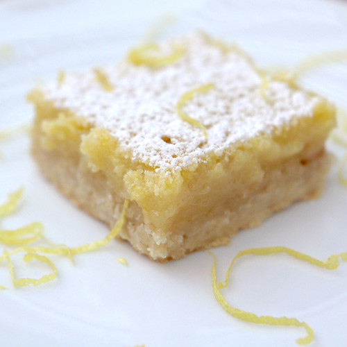 Lemon Bars with Oatmeal Crust