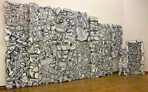 "Jean Dubuffet: ""Le mur bleu"" (1967)"