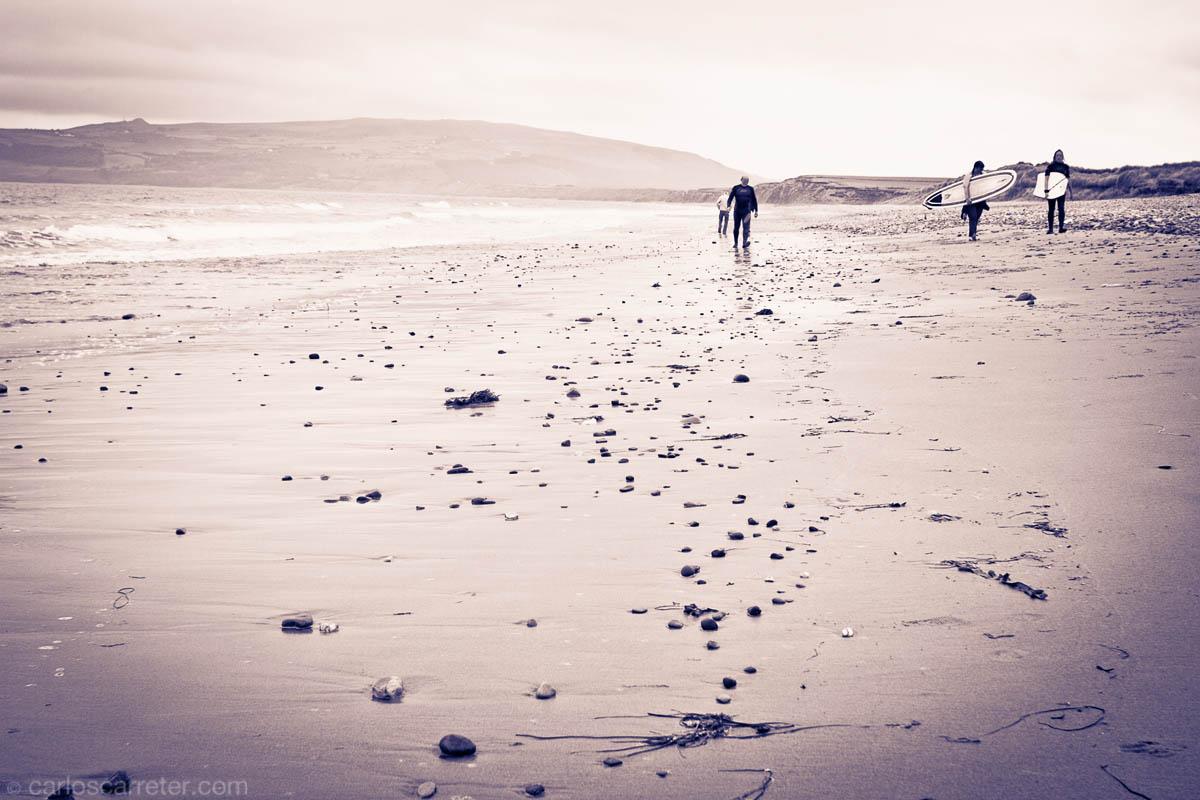 Playa en la península de Lleyn