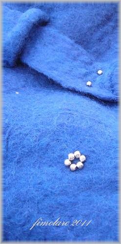 Wet felted Bag - Close-up