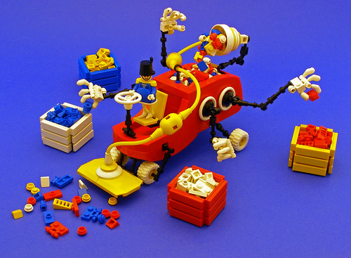 A.B.S. Snorter and his Lego brick sorter