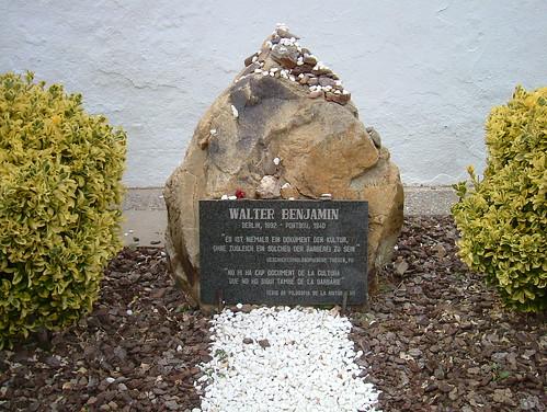 Walter Benjamin memorial at the communal grave, Portbou.