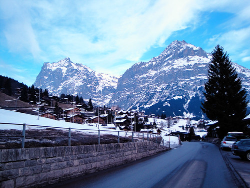 road to the swiss alps.
