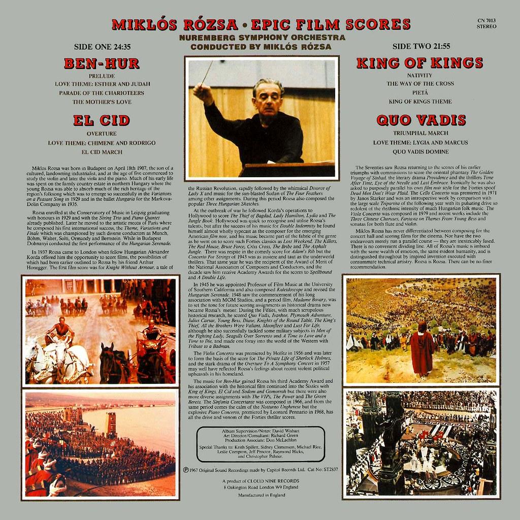 Miklós Rózsa - Epic Film Scores