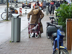Old woman with rollator