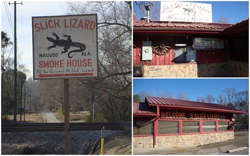 Slick Lizard Smokehouse, Nauvoo AL