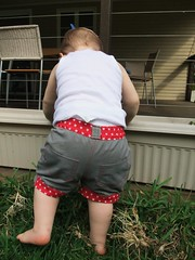 Little Star Upcycled Shorts - Action 3