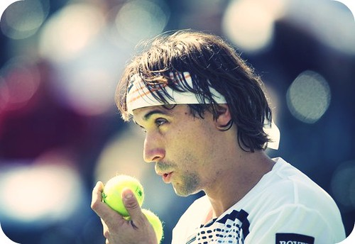 Ferrer talking to balls