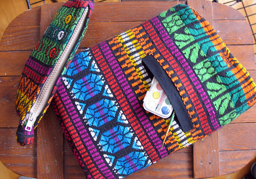 Netbook Case and Pencil Case Created from Upcycled Vest