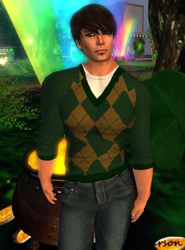 Cilian'gel Dark Green-Copper Sweater