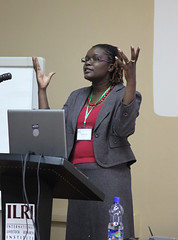 Jemimah Njuki at the AgriGender 2011 workshop