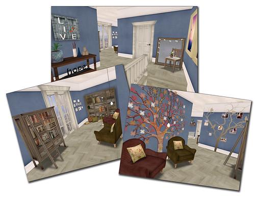 Style - Bluebonnet upstairs/reading area