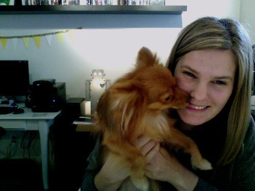 Georgie Kissing Me