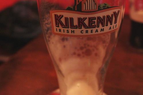empty kilkenny glass